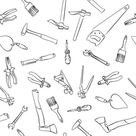 Herramientas De Trabajo Del Vector Ilustración Para El Diseño