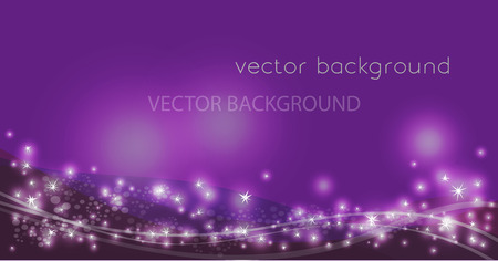 Vector constellation flow in space. Stock background of star wave for design Ilustração