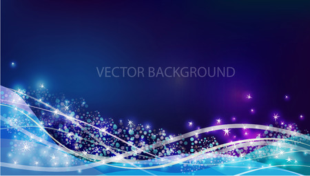 Vector constellation flow in space. Stock background of star wave for design 矢量图像