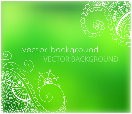 mendie: abstract spring background with henna patterns. Stock mehndi illustration for design Illustration