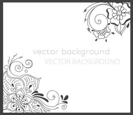 abstract spring background with henna patterns. Stock mehndi illustration for design Illustration
