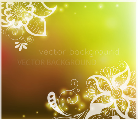 abstract autumn background with henna patterns. Stock mehndi illustration for design