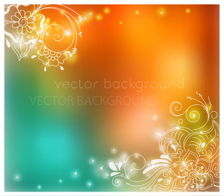abstract magic background with henna patterns. Stock mehndi illustration for design Illustration