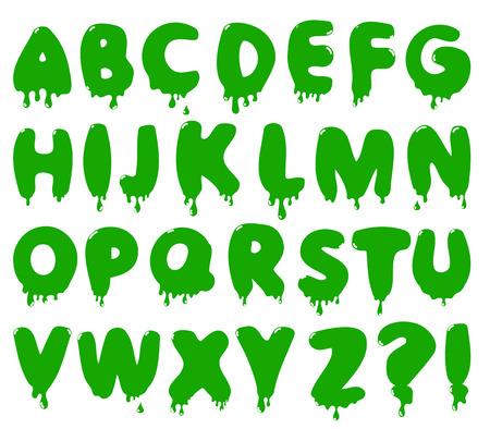 smudge: Smudge cartoon font. Stock  alphabet for Halloween design