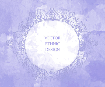Henna Mehndi Vector : Vector abstract ethnic background with henna patterns. stock