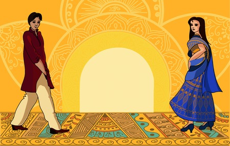 Indian fashion set. Vector stock illustration for design
