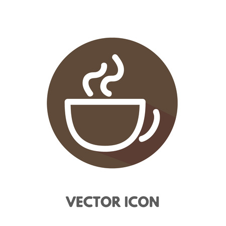 Vector flat cup icon. Stock round symbol for design. Illustration
