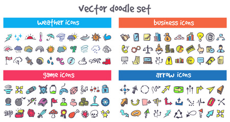 A vector doodle icons set