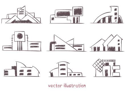 Sketch of modern house. Banco de Imagens - 122573029