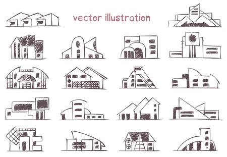 Sketch of modern house. Banco de Imagens - 122573030
