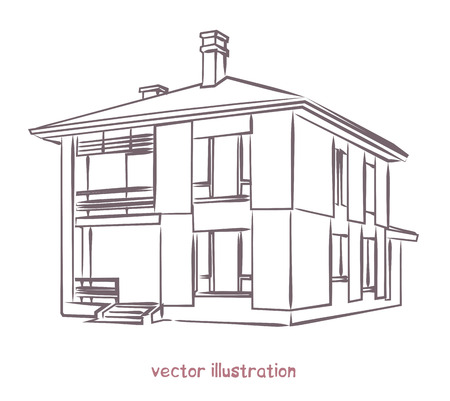 Sketch of individual house.