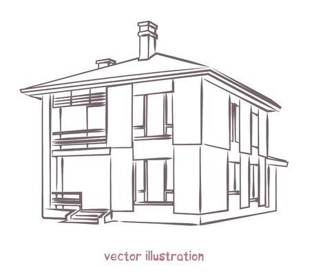 Skizze des einzelnen Hauses.