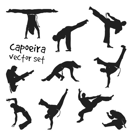 vector capoeira set Ilustração