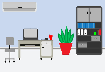 office furniture: illustration of office furniture