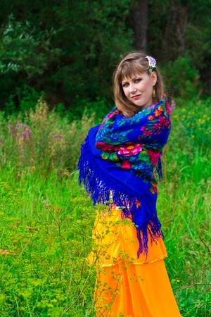 Beautiful russian girl outdoor Stock Photo - 10696939