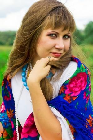 Beautiful russian girl outdoor Stock Photo - 10696922