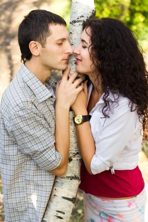 Beautiful happy love couple outdoor Stock Photo - 13513517