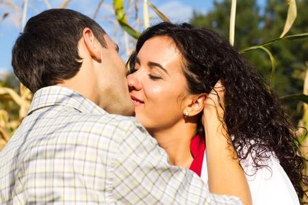 Beautiful happy love couple outdoor  photo