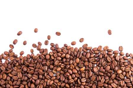 Coffee beans as a background isolated on white Reklamní fotografie - 18784228