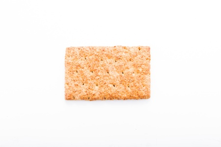 wholesome: Wholesome biscuits with cereal isolated on white  Healthy diet concept  Stock Photo