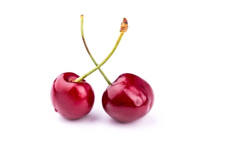 Sweet fresh cherry isolated on white background Reklamní fotografie - 20076764
