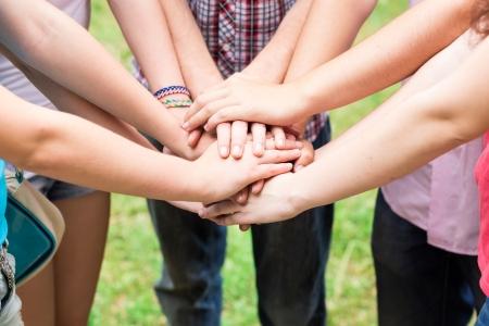 сообщество: Руки молодежных Toghether. Поддержка, работа в команде, концепция единения