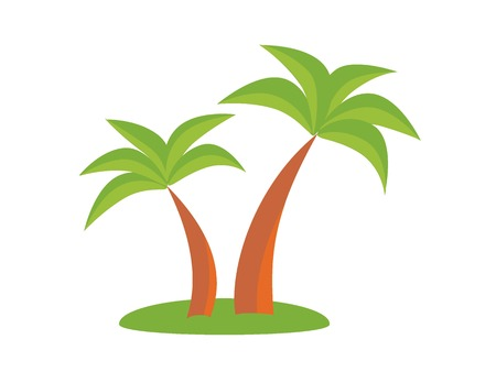 palmtree: Palm trees. Holiday concept, palm, holiday icon, vector