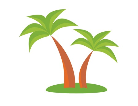 coco: Palm trees. Holiday concept, palm, holiday icon