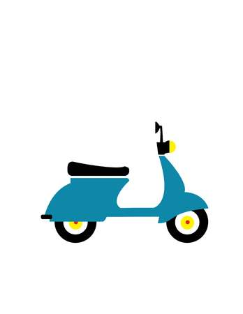 travelling: Motorbike flat icon, illustration vector. Travelling concept Illustration