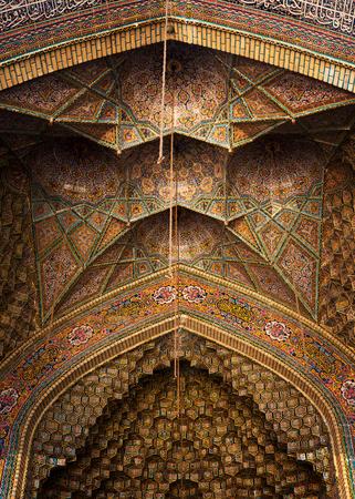Nasir al-Mulk Mosque or pink Mosque in Shiraz, Iran