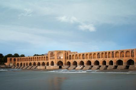 isfahan: Khaju Bridge is a bridge in the province of Isfahan, Iran. Stock Photo
