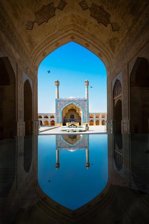 Imam-moskee in Isfahan, Iran. Imam-moskee staat aan de zuidkant van het Imam-plein en wordt beschouwd als een van de meesterwerken van de Perzische architectuur.