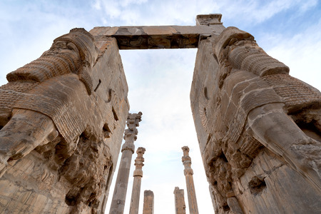 shiraz: View of Persepolis in northern Shiraz, Iran. Stock Photo