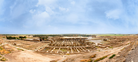 shiraz: Panoramic view of Persepolis in northern Shiraz, Iran. Stock Photo
