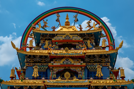Sculpture art and architecture created in Namdroling Nyingmapa Monastery, Mysore,Karnataka, India