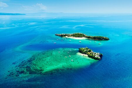 aerial view of magic and crocodile islands, Phillippines Stockfoto