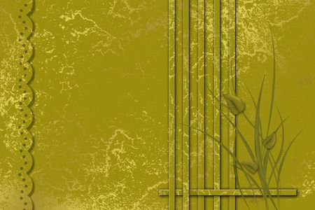 texturized: Abstract framework with grass and leaves