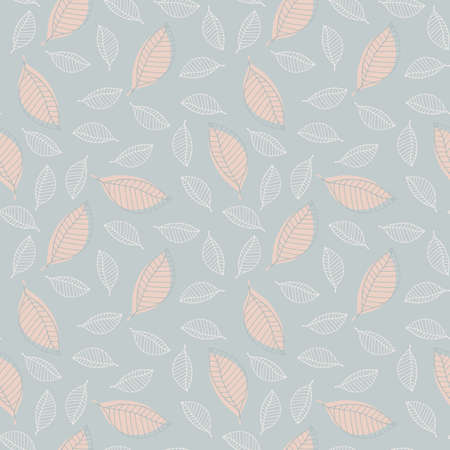 Seamless pattern with stylized leaves. Vector illustration EPS10
