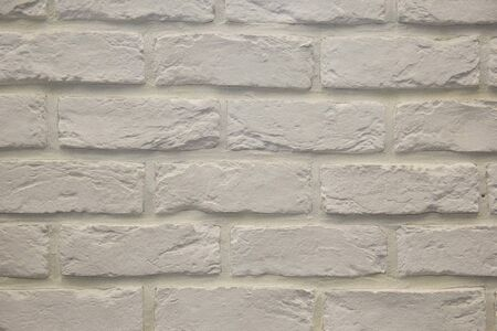 Modern white brick wall texture for background. Modern white brick wall texture for background. Close-up view Stok Fotoğraf - 130127897