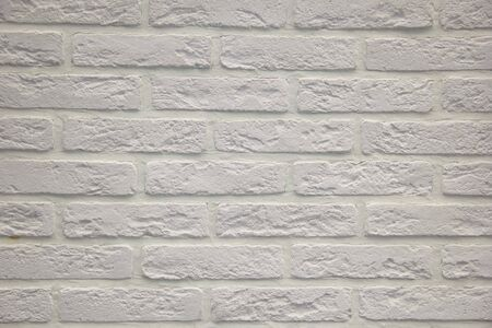 Modern white brick wall texture for background. Modern white brick wall texture for background. Close-up view Stok Fotoğraf - 130127903