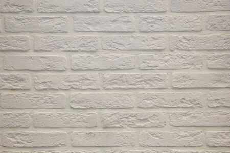 Modern white brick wall texture for background. Modern white brick wall texture for background. Close-up view