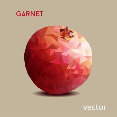 garnet: garnet poligon vector on the brown background