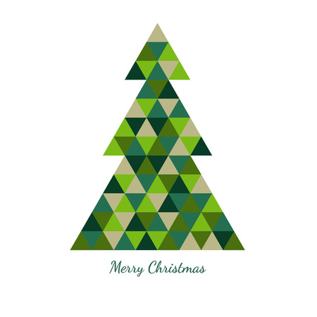 overflow: Christmas tree from green triangles and ?ongratulatory inscription
