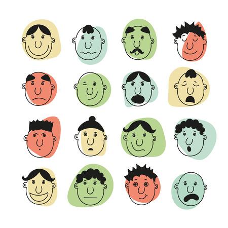 Un conjunto de rostros humanos que representan diversas emociones