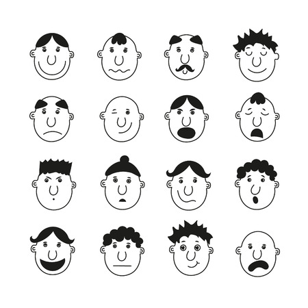 A set of human faces depicting various emotions