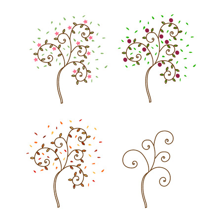 tuck: Tree for all seasons on white background