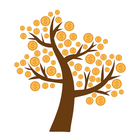 Tree with money growing on it