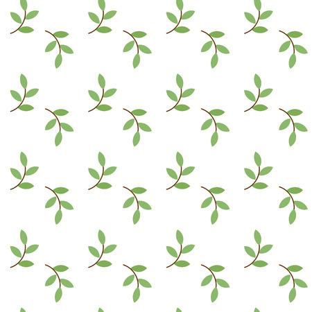 a sprig: Modelo incons�til simple con una ramita verde