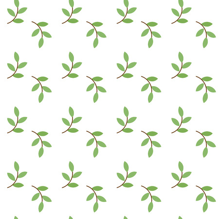 sprig: Simple seamless pattern with green sprig