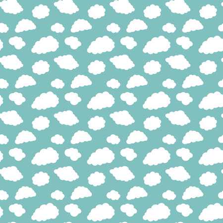 cloudiness: Pattern of white clouds on a blue background Illustration